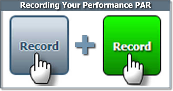 Why Isn't The PAR Recording Function Automatic During A CEP Performance Evaluation?